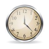 Wall vector clock Royalty Free Stock Image