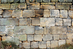 Wall. A view na the old sandstone wall Royalty Free Stock Photos
