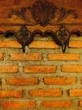 Wall. Vintage brick mortar decorate Stock Photo