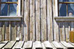 Wall of a vintage wood house Royalty Free Stock Image