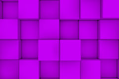 Wall of violet cubes Royalty Free Stock Image