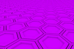Wall of violet hexagons royalty free illustration
