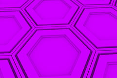 Wall of violet hexagons stock illustration