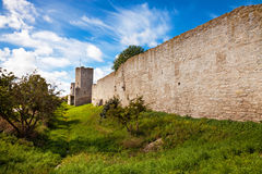 Wall of Visby. Ancient Wall of the medieval town of Visby in Gotland, Sweden Royalty Free Stock Photography