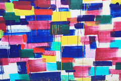 Wall in vivid colors Royalty Free Stock Photo