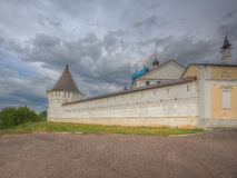 Wall of the Vvedensky episcopal female Monastery in Serpukhov Royalty Free Stock Image