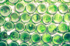 Wall of warehouse with many bottles Selective focus. form dust o. Ld cork bar row pile line rack wet vine ripe noir shot beer indoors green factory dark winery Stock Image
