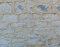 The wall was built of stone with wide seams Royalty Free Stock Images