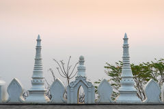 Wall of Wat Phra That Doi Gongmoo under morning sky Stock Photos