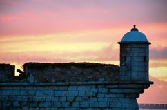 Old fortress at sunset Stock Image