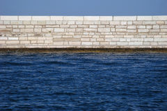 Wall and water Royalty Free Stock Image