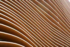 Wall wave wood Royalty Free Stock Photography