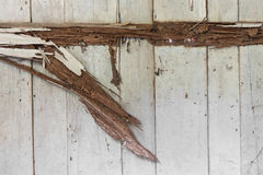 Wall weathered wood rot. Royalty Free Stock Photography