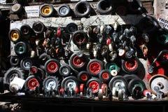 Wall of wheels Royalty Free Stock Photo