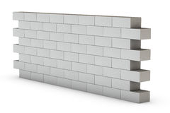 Wall on White Stock Images