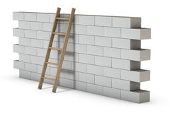 Wall on White Royalty Free Stock Images