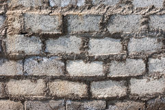 A wall of white brick Royalty Free Stock Photo