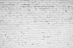 Wall of white brick Stock Images