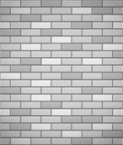 Wall of white brick seamless background Royalty Free Stock Images
