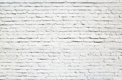 Wall of white bricks Stock Image