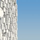 Wall of white cubes Stock Photos