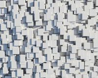 Wall of white cubes Royalty Free Stock Photo