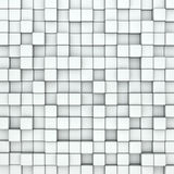 Wall of white cubes Stock Photo
