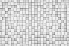 Wall of white cubes. Abstract background. 3d render illustration Royalty Free Stock Photography