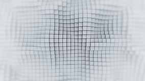 Wall of white cubes abstract 3D render. Wall of white cubes. Abstract geometric background. 3D render Stock Photos