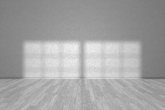 Wall of white empty room with parquet floor Stock Images