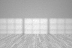 Wall of white empty room with white parquet floor Royalty Free Stock Image