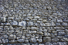 Wall of White rocks in Jura Royalty Free Stock Photography