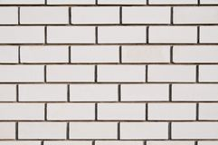 Wall from a white silicate brick Royalty Free Stock Images