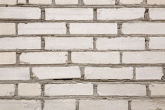 Wall from a white silicate brick. background Royalty Free Stock Image