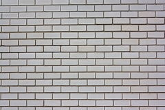 Wall from a white silicate brick. Royalty Free Stock Photography