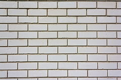 Wall from a white silicate brick. Stock Images