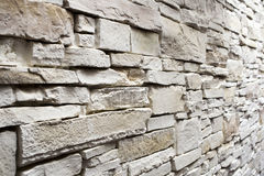 Wall from white stone Royalty Free Stock Photography