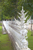 Wall of the white temple royalty free stock image