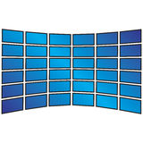 Wall of Widescreen HDTVs Royalty Free Stock Images