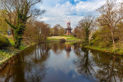 Am Wall Windmill in Bremen, Germany Stock Photo