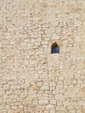 Wall and window. Of the medieval castle of peñaranda in the province of burgos, Spain Royalty Free Stock Photo