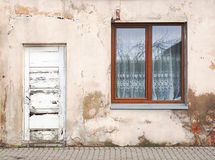 Wall with window background Royalty Free Stock Images