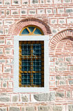 Wall with a window, Dzhumaya Mosque, Plovdiv, Bulgaria. Detail of the exterior of the Dzhumaya Mosque. It is located in Plovdiv, Bulgaria and it was built in Stock Image