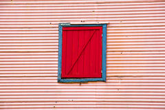 Wall with window in La Boca Royalty Free Stock Photos