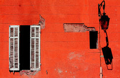 Wall.Window.Lantern. Stockbilder