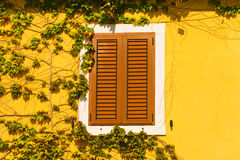 The wall and the window, mediterranian architecture. Royalty Free Stock Photos