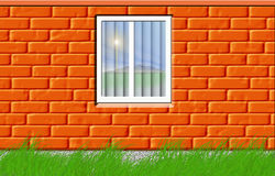 Wall with a window Stock Photos