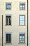 Wall with window and a trompe-l'oeil Royalty Free Stock Image