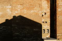 Wall with windows royalty free stock photo