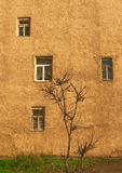 Wall with windows Royalty Free Stock Images